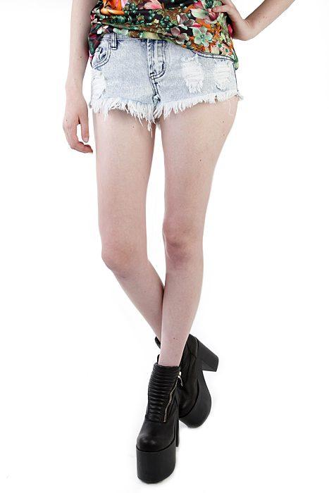 Girls Shorts Acid Wash