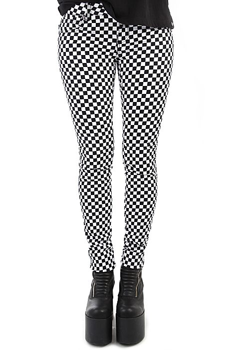 T Jeans Checkered