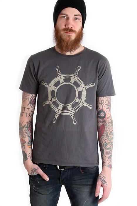 Boys Tee Vintage Ship Wheel