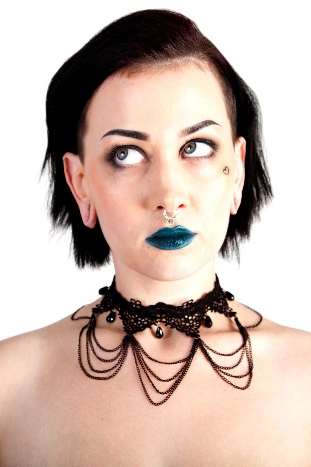 Lace & Chain Choker