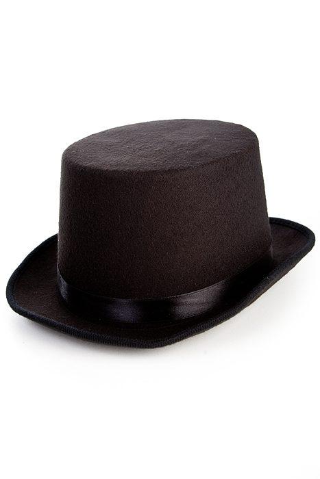 Deluxe Felt Top Hat Black
