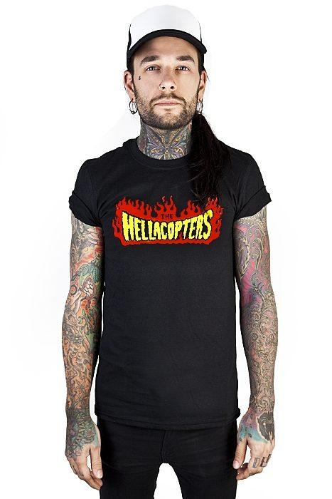 Tee Hellacopters Flames Logo