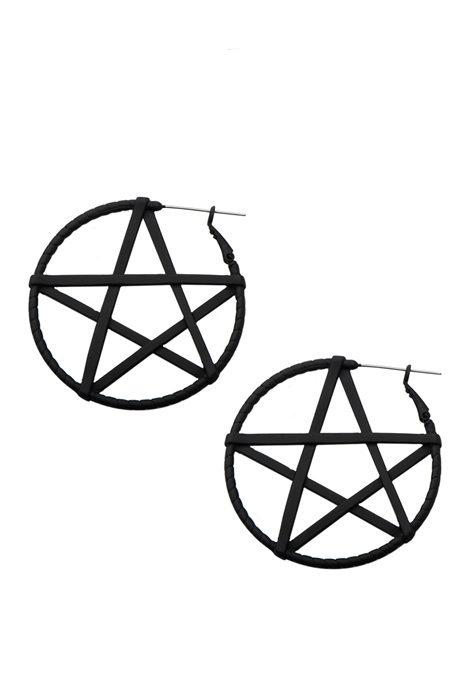 Pentagram Hoop Matte Black