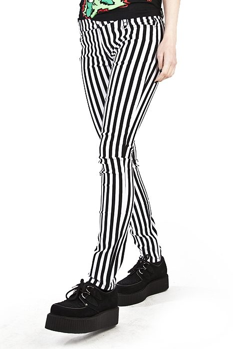 Stripe Skinny Jeans