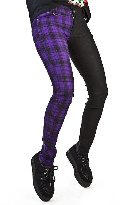 Split Pant Tartan Black