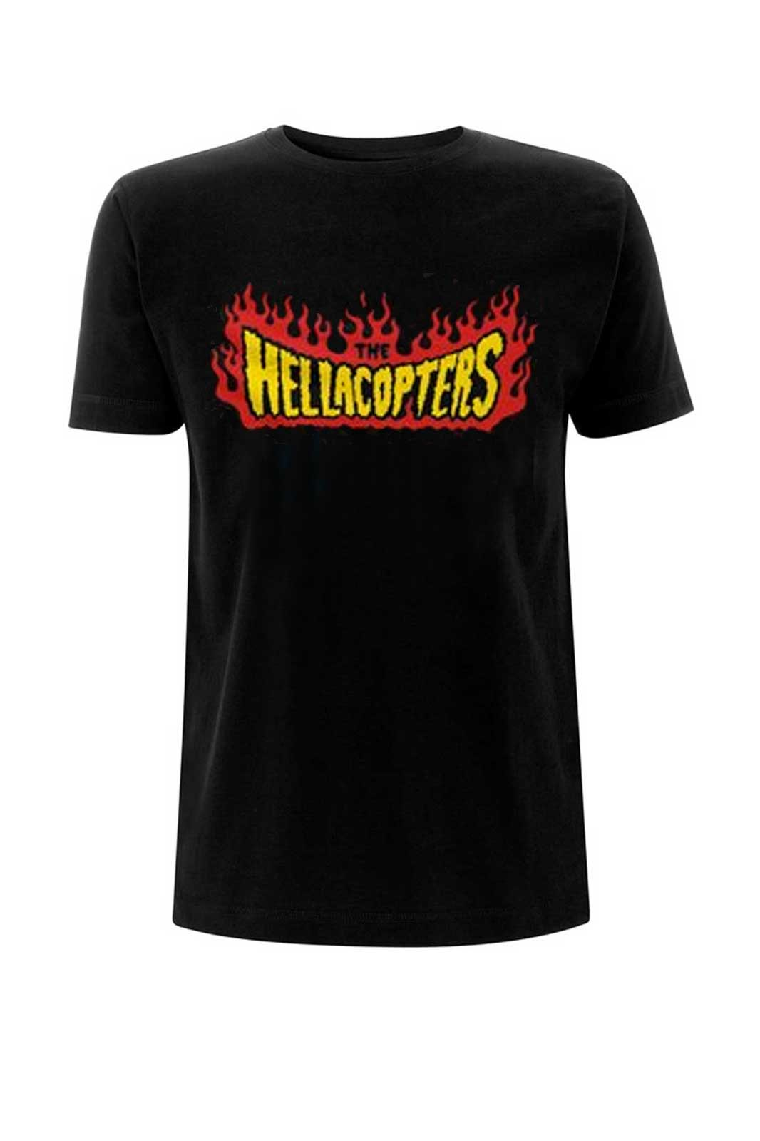 official mercandise tee hellacopters flames logo