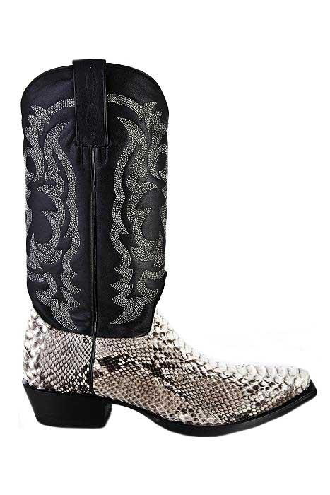 Cowboy Boots Natural Python
