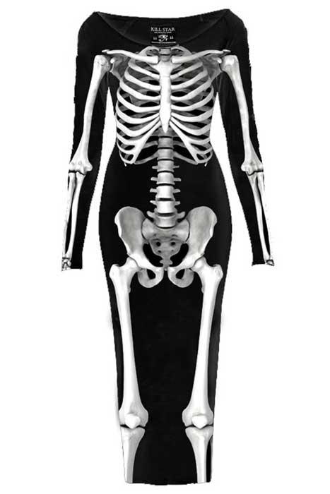 Skeletor L/S Maxi Dress