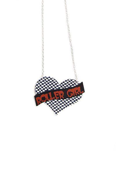 Necklace Roller Girl Heart