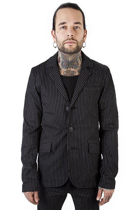 Mens Pinstriped Top cat jacket