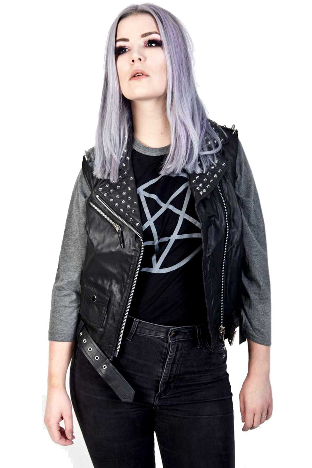 Rolling Leather Vest