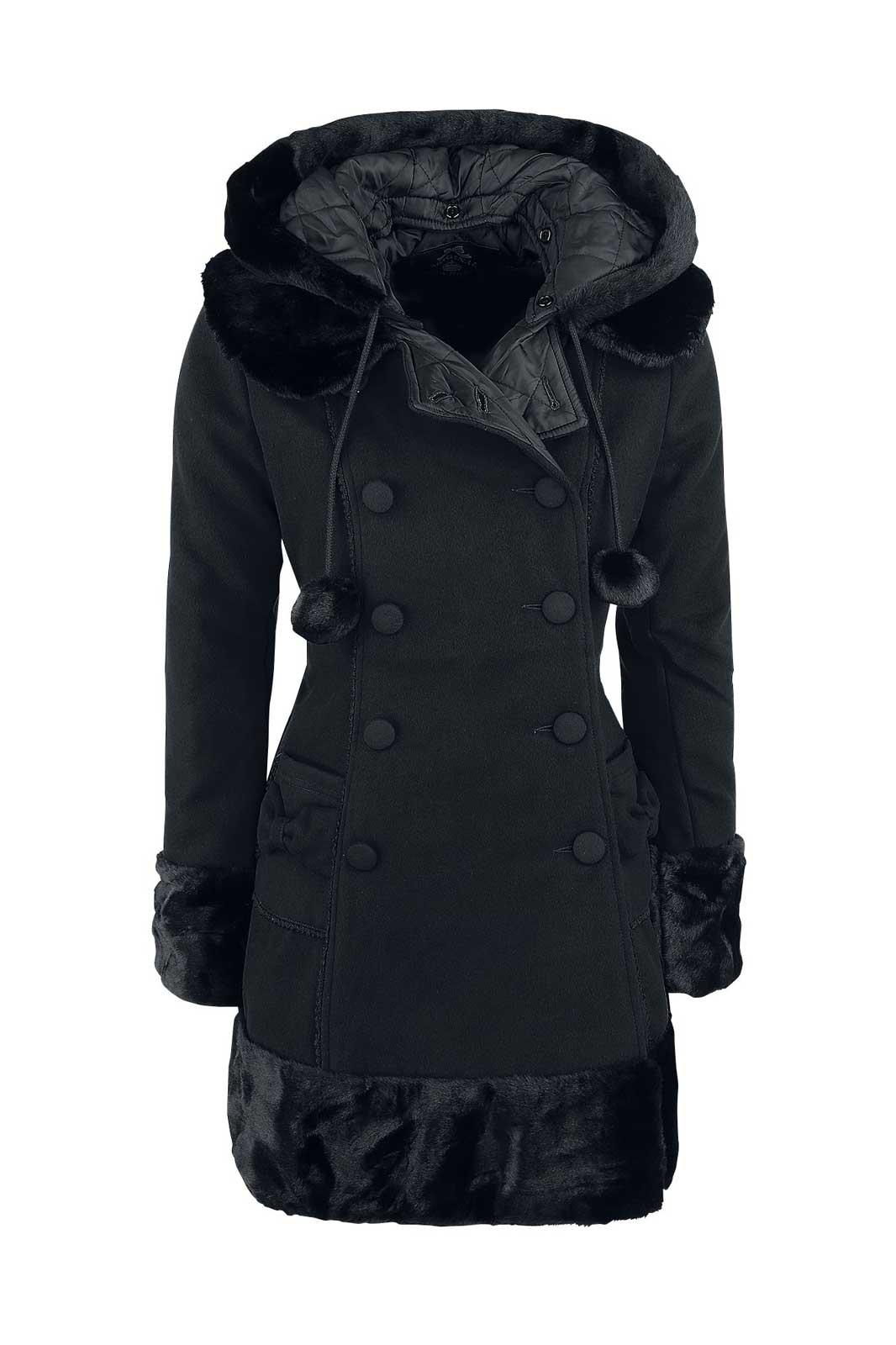 Sarah Jane Coat Black Front