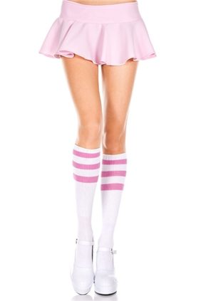 Knee High With Pink Stripes
