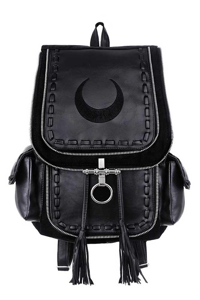 Crescent Black Backpack