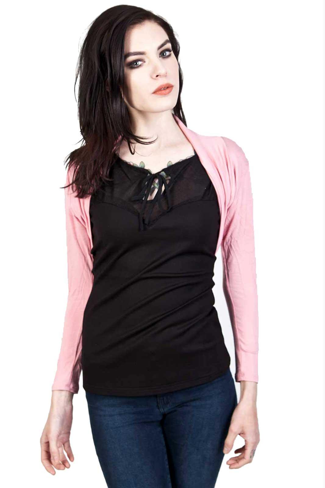 Folded Bolero Pink