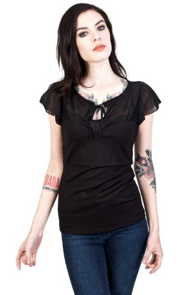 Alyssa Top Rockabilly Black