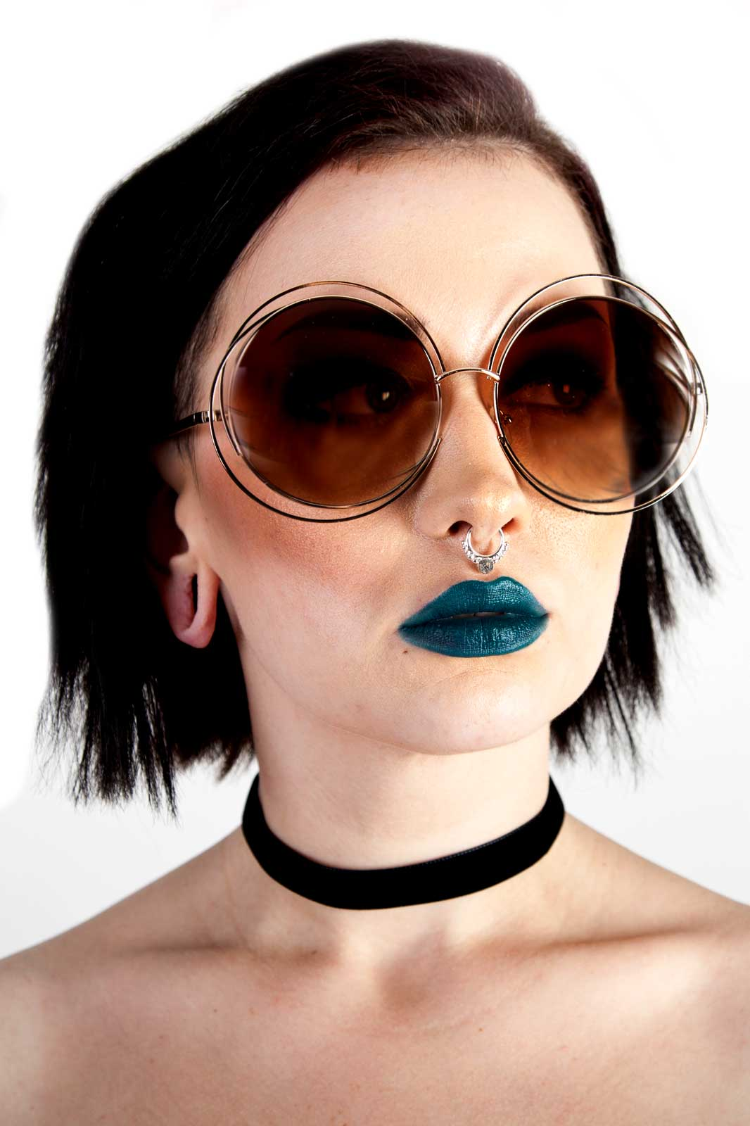 Psychedelic Sunglasses Brown