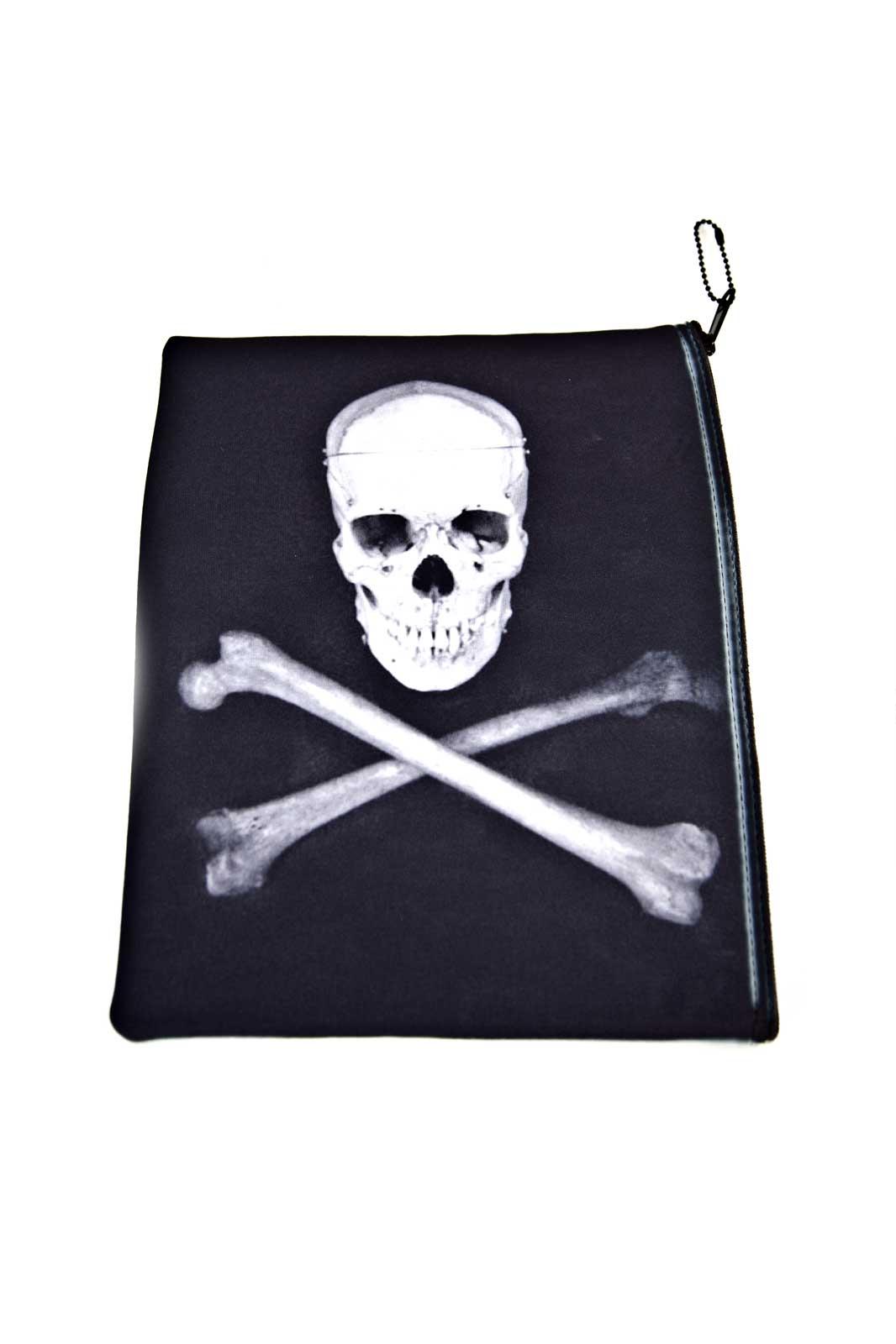 Zipper Case Skull Bones