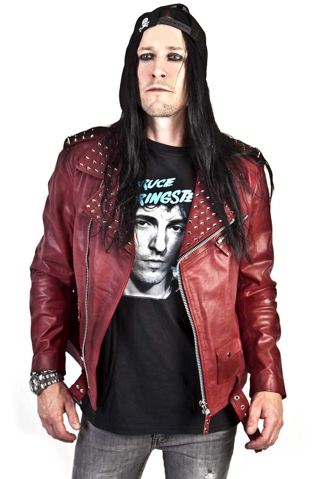 Rock Rivets Leather Jacket