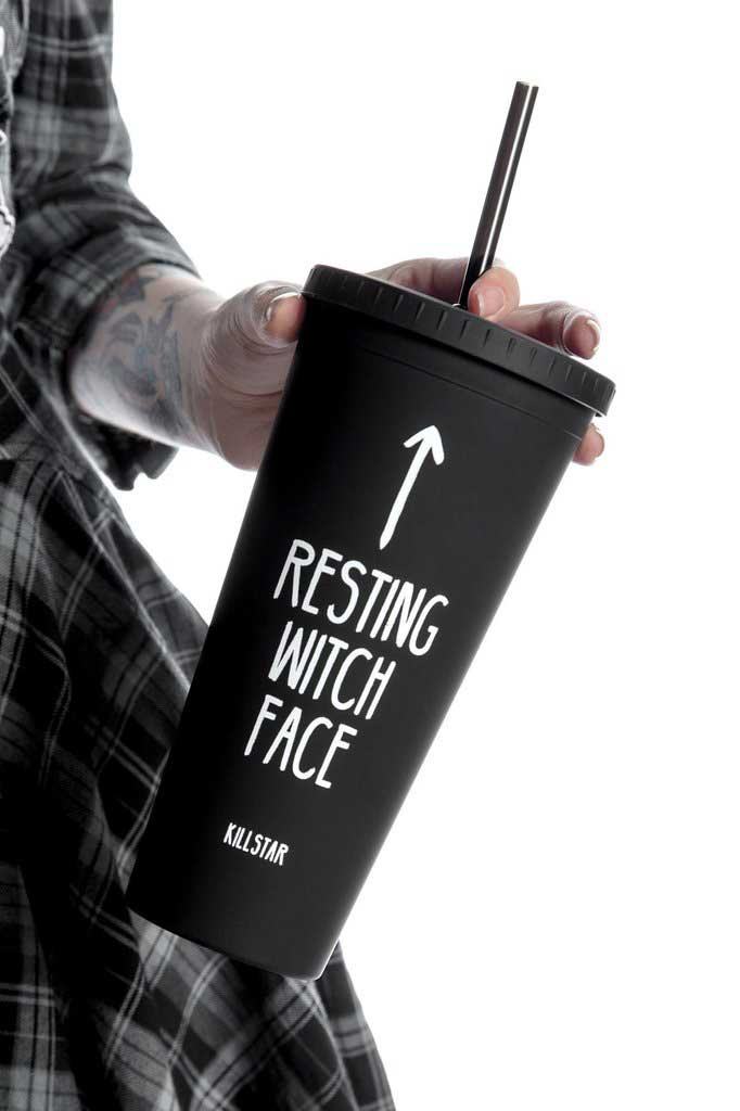 Resting Witch Face Cold Brew Cup