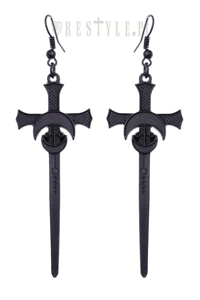 Black Sword Earrings