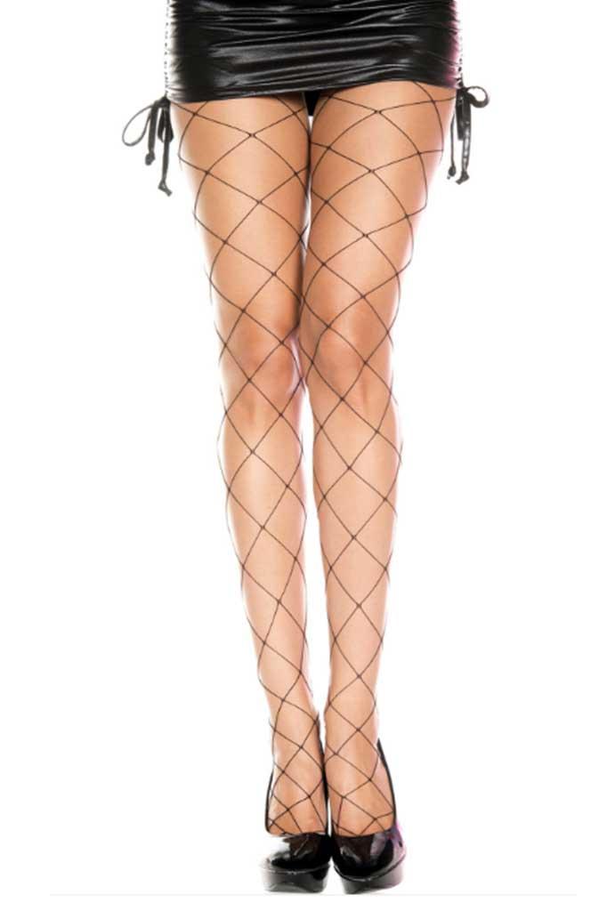 Extra Large Net Spandex Pantyhose