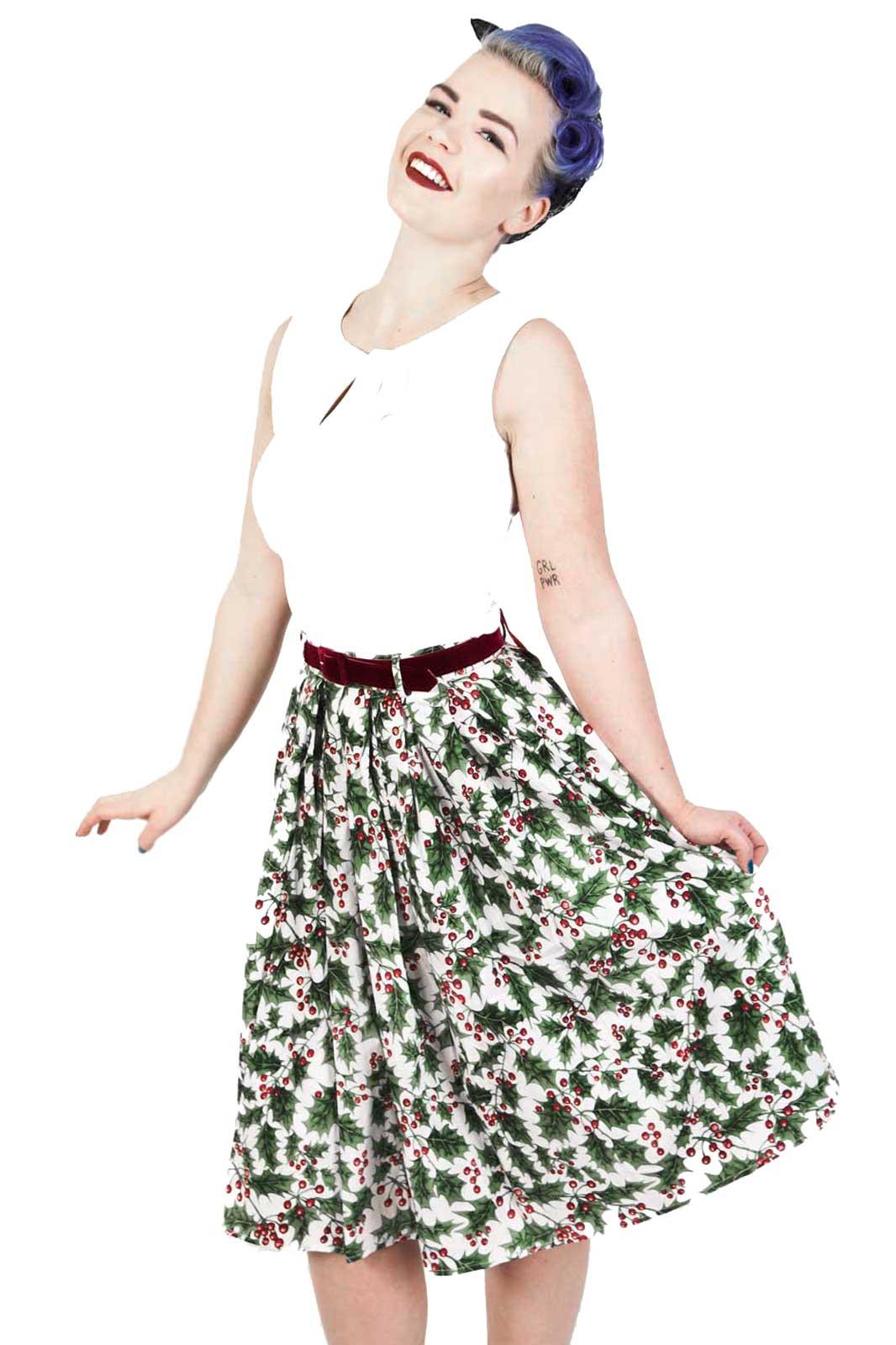 Holly Berry Skirt
