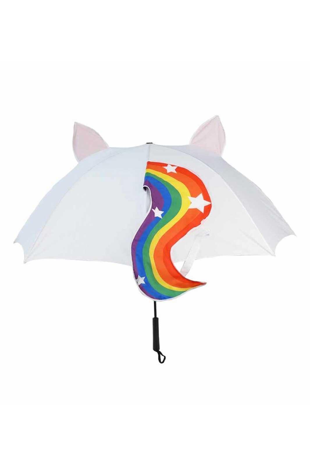 Rainbow Unicorn Umbrella Back