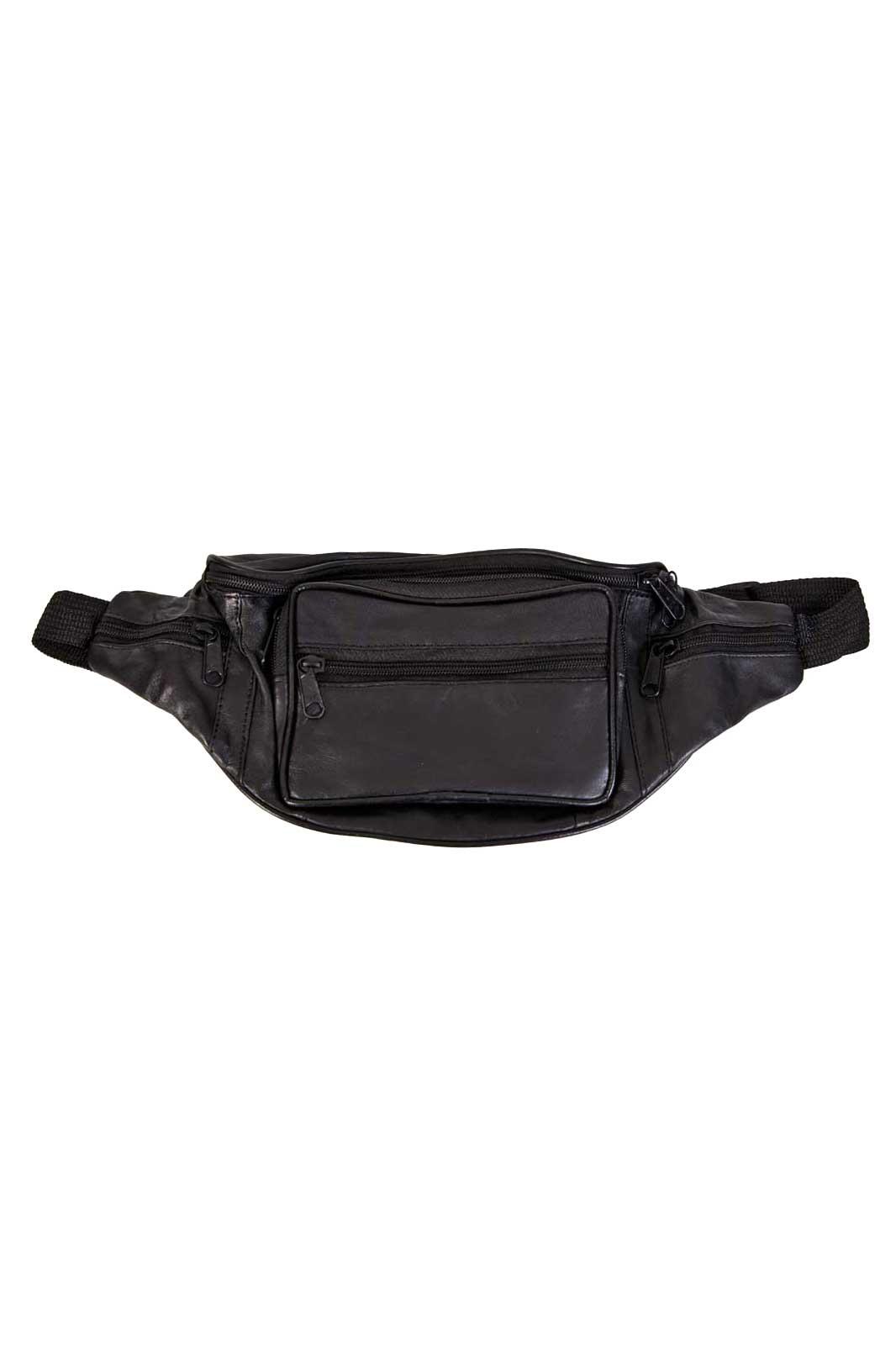 Black Leather Bum Bag