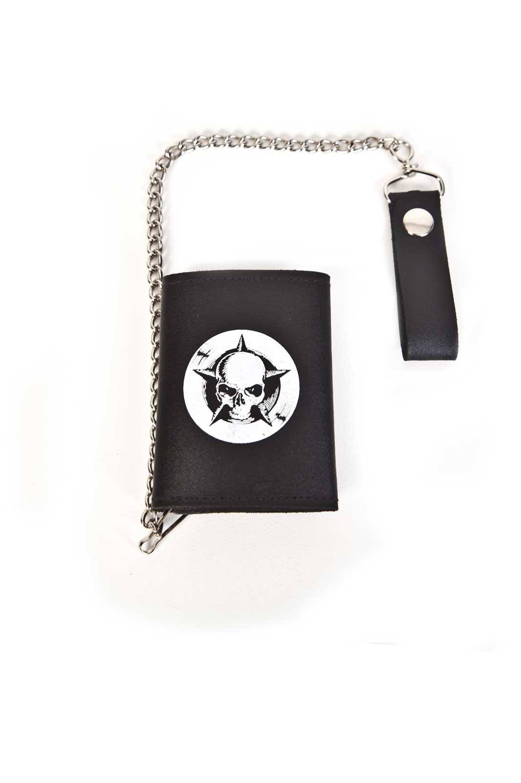 Shock Small Tri-Fold Wallet Black