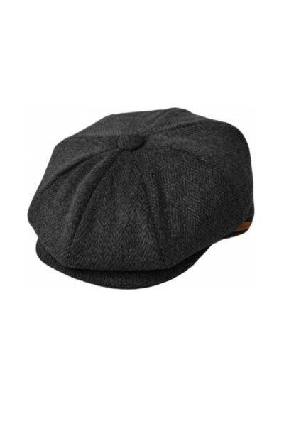 Tweed Newsboy Cap Grey