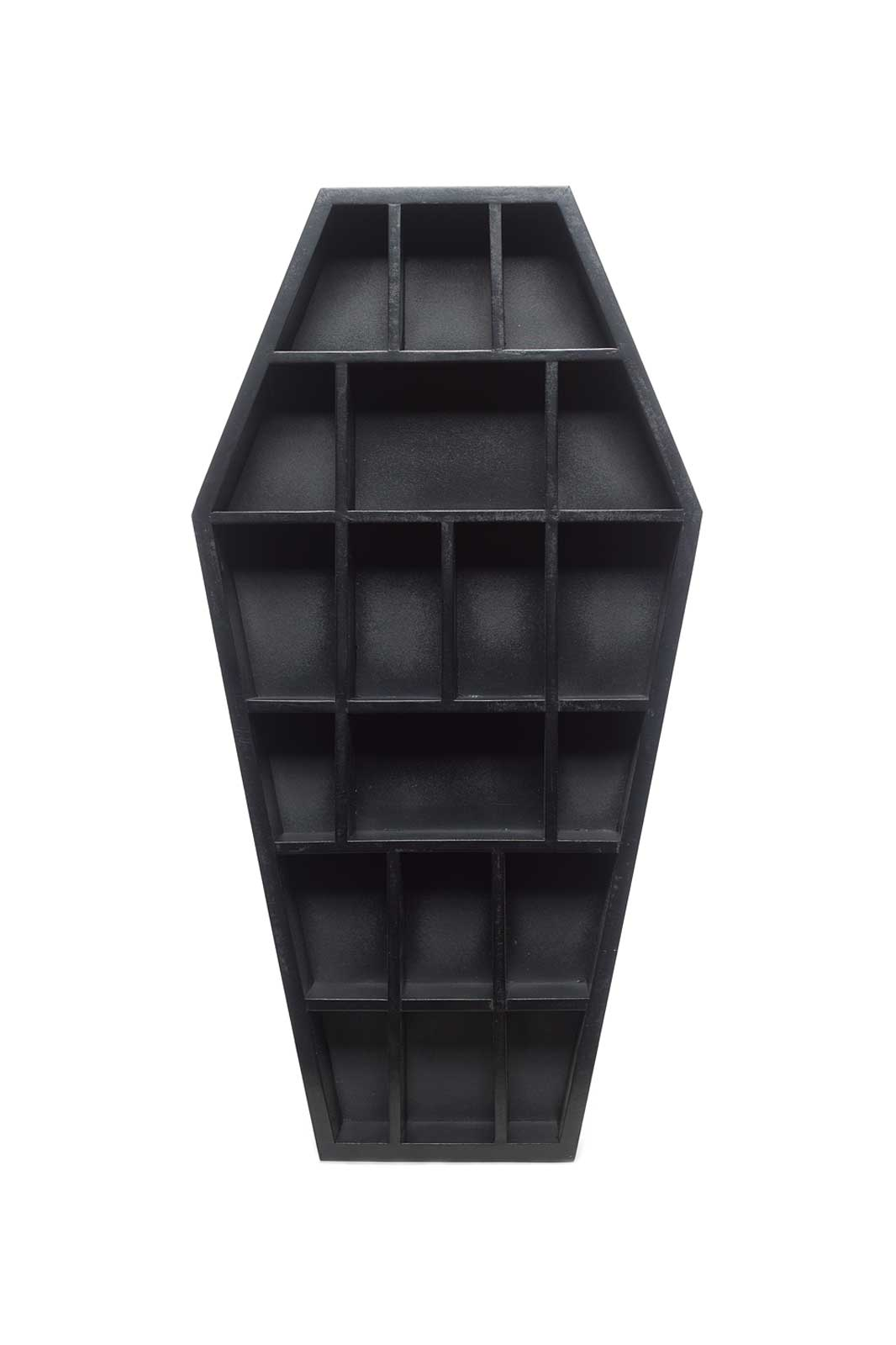 Curio Coffin Shelf Front - Sourpuss