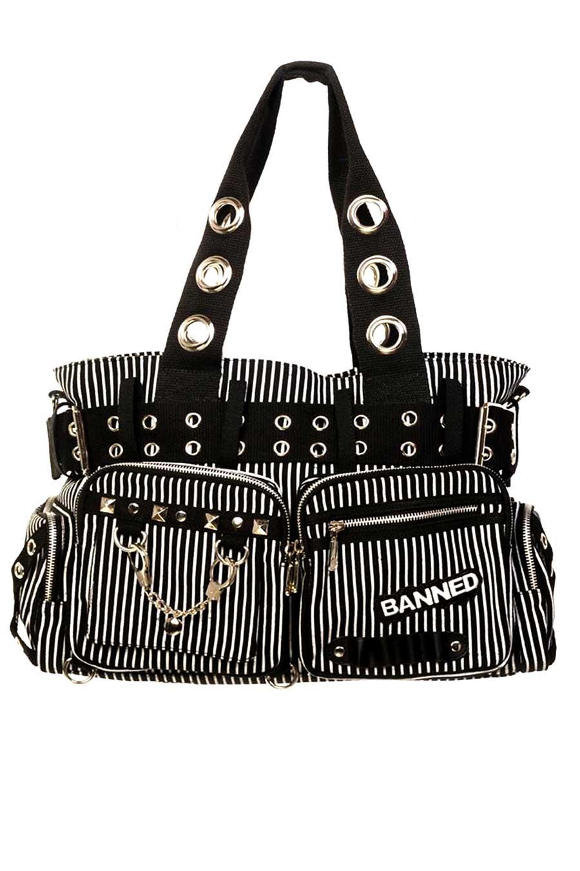 Handcuff Handbag Striped Front