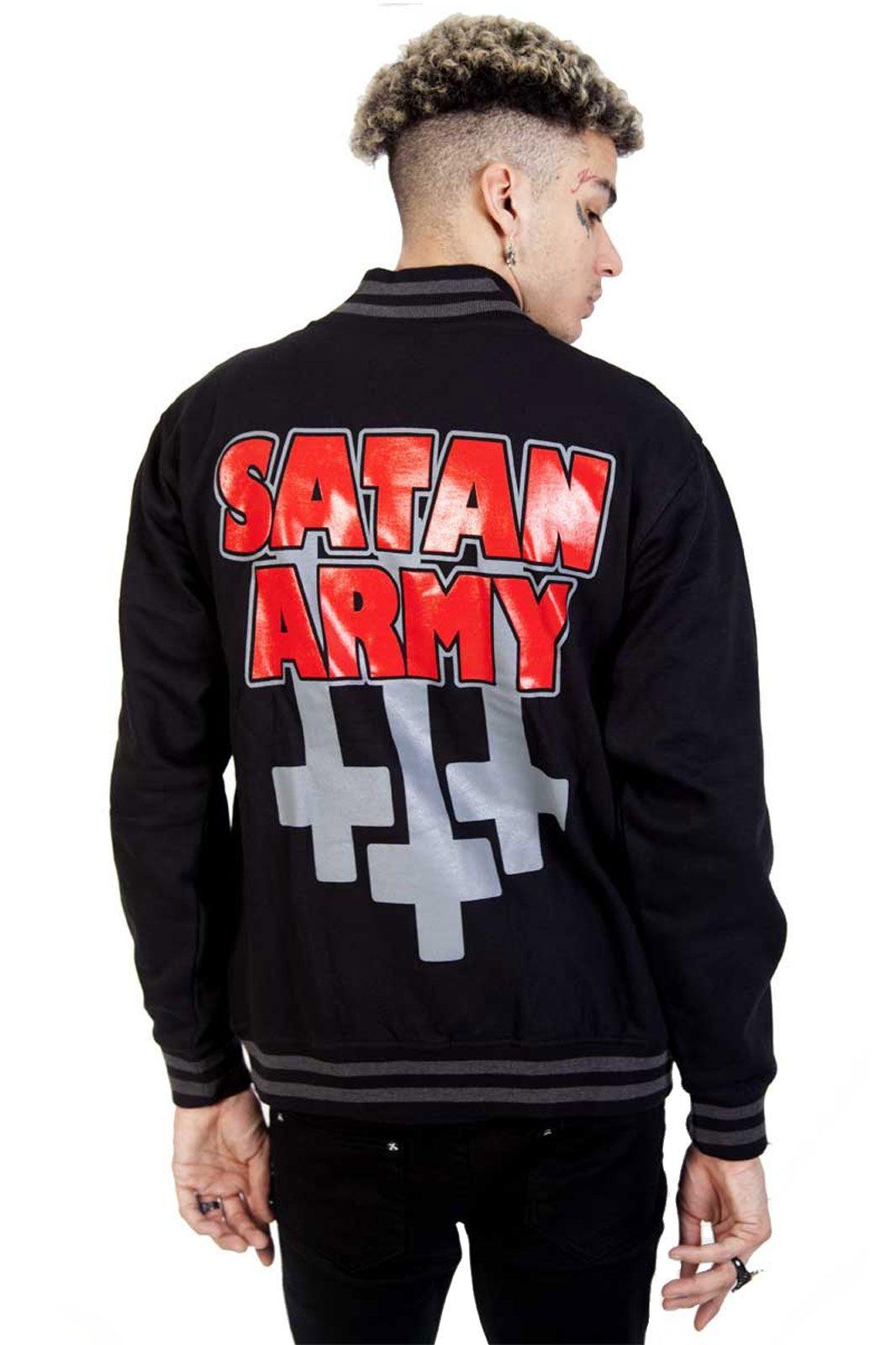toxico baseball jacket satan army