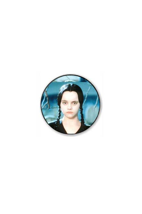 Wednesday Addams Badge