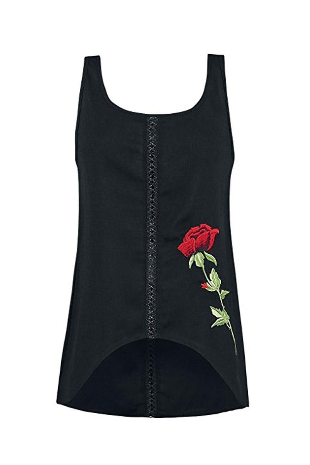 jawbreaker rose top black