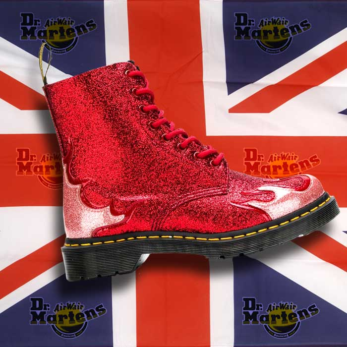 Limited Edition Red Glitter Dr Martens