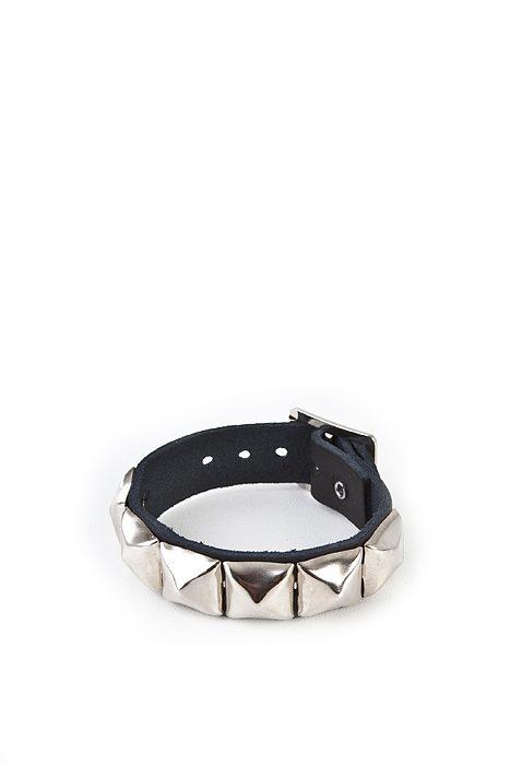 1-row pyramid-wristband Black