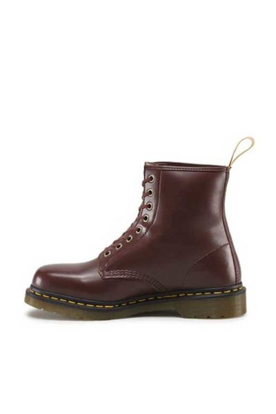 dr martens 1460 vegan 8 eye boot cherry