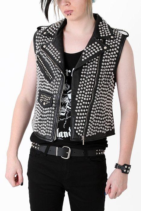 Leather Vest Studded Overload Shock Store Eu