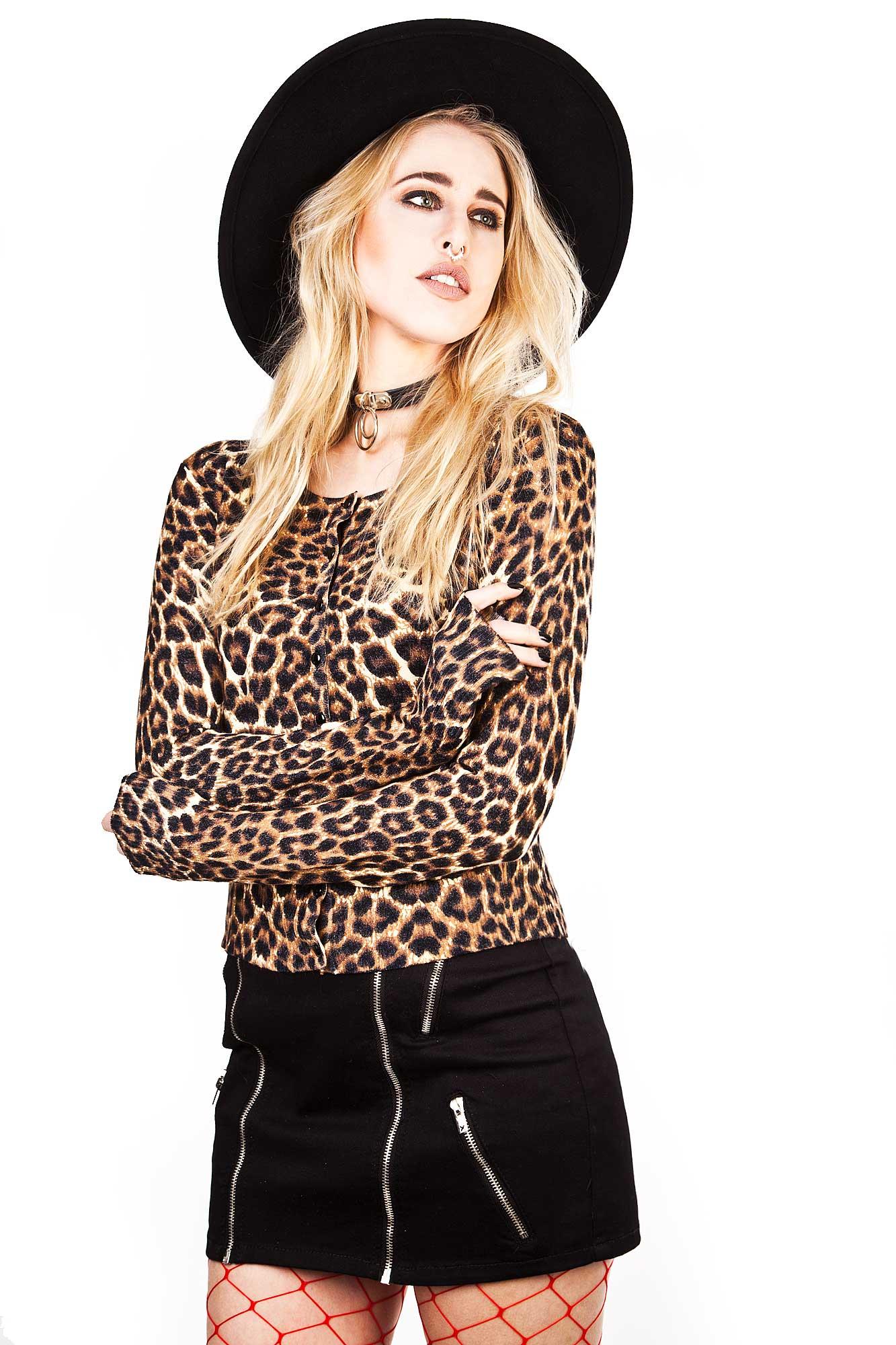 Crazy Love Cardigan Leopard