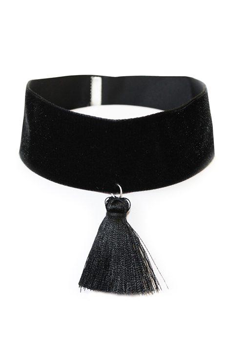 Black Velvet Choker w. Tassle