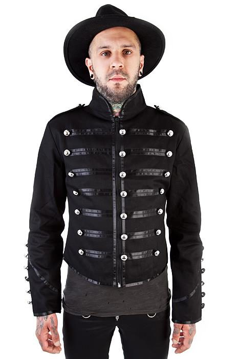military drummer jacket black