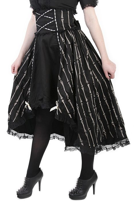 Skirt w Back Bow & Bones