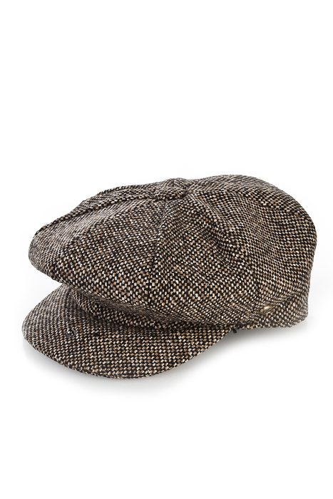 Wool Newsboy Cap Birds Eye