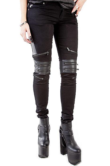 Zip protector jean