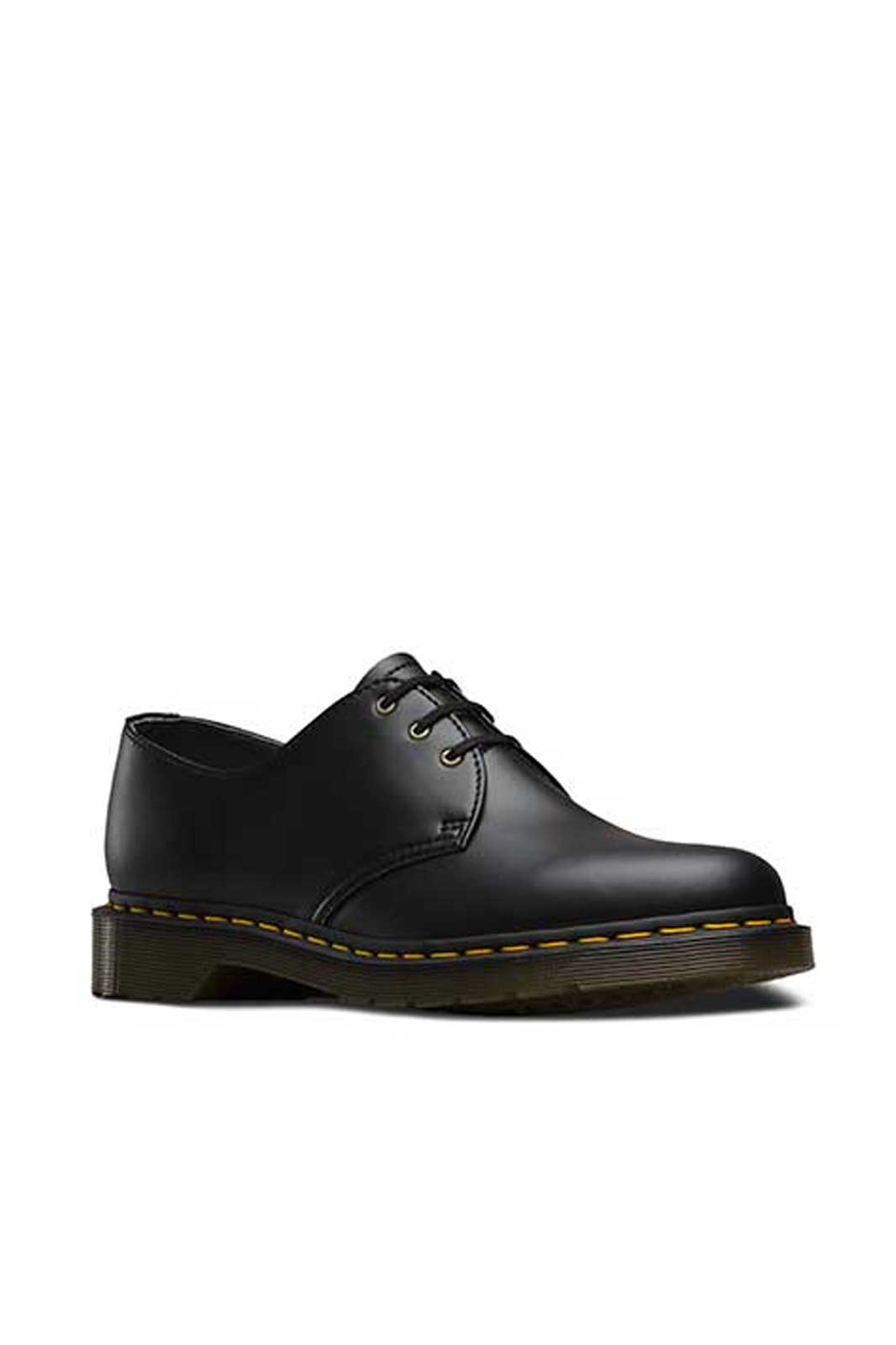 dr martens 1461 vegan 3 eye shoes black