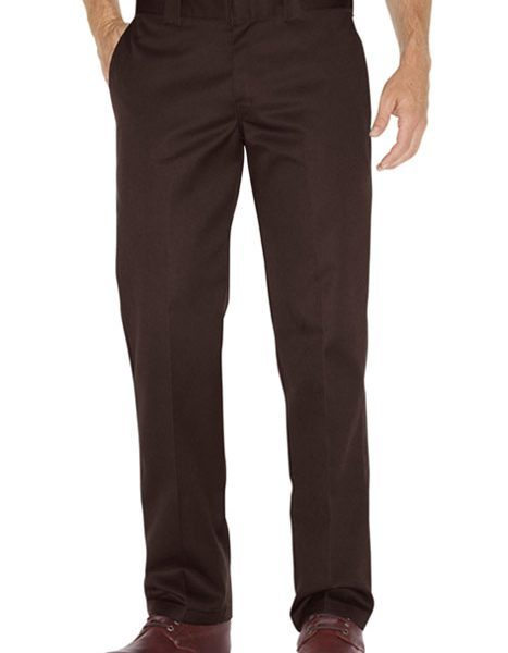 Boys Straight Work Pant brown