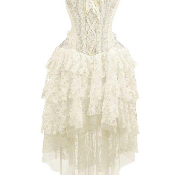Dress Ophelie Taffeta White Front