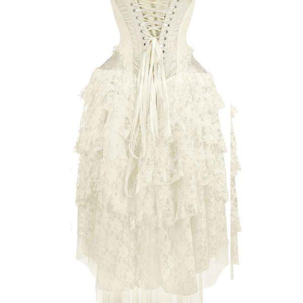 Dress Ophelie Taffeta White Back